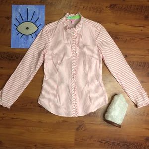 💕Long Sleeve Lilly Pulitzer ButtonUp with Ruffle